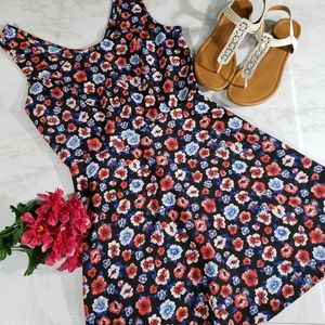 Forever 21 floral tank fit and flare dress short